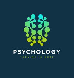 Abstract psychology logo vector