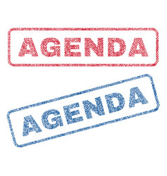 Agenda textile stamps vector