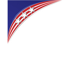 American abstract flag corner border banner vector