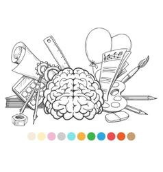 Back to school coloring page vector