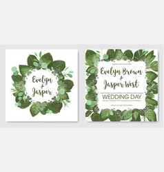 beautiful set of romantic spring cards banner vector image