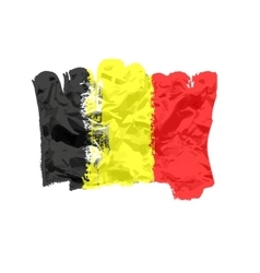 Belgian flag painted by brush hand paints Art vector