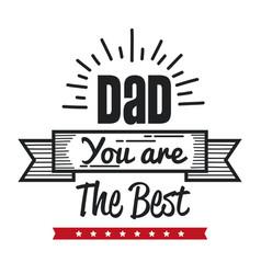 best dad icon vector image
