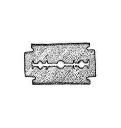 blade dotwork vector image