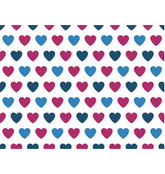 Blue and purple heart shape pattern vector
