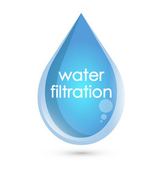 blue drop water filtration vector image