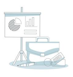Business cartoon elements vector