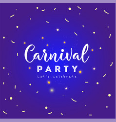 carnival colorful poster vector image