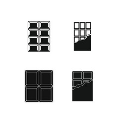 chocolate icon set simple style vector image