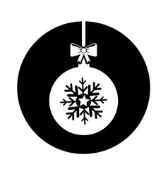 Christmas ball with bow hanging vector
