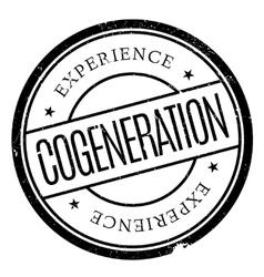 Cogeneration stamp rubber grunge vector