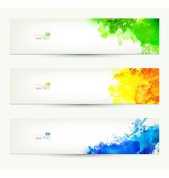 Colorful headers vector