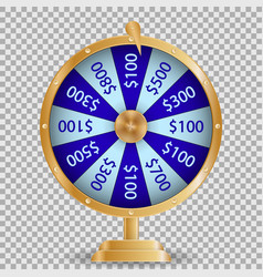 Colorful roulette wheel chance victory fortune vector