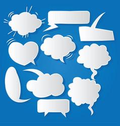 Comic bubble speech balloons speech cartoon 209 vector