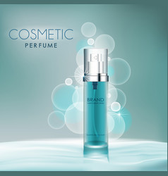 cosmetic background blue water vector image