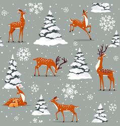 deer cartoon seamless vector image