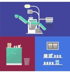 Dental office banner with dental equipment vector image