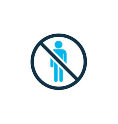 do not enter icon colored symbol premium quality vector image