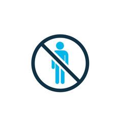 Do not enter icon colored symbol premium quality vector
