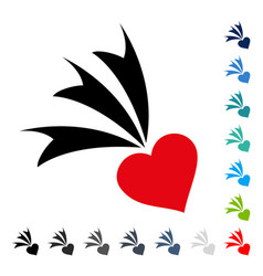 falling heart icon vector image