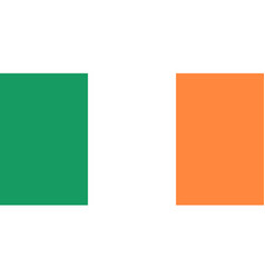 flag of ireland in national colors vector image