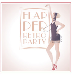 Flappergirls retroparty2-02 vector