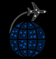 flare mesh network international flight with flare vector image