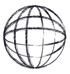 globe world icon in monochrome blurred silhouette vector image