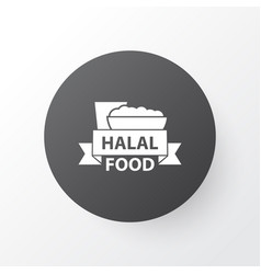 Halal icon symbol premium quality isolated food vector
