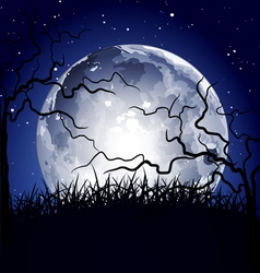 Halloween full moon background vector