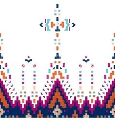 hand drawn tribal seamless border vector image vector image