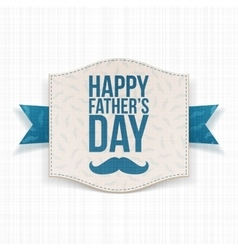Happy Fathers Day realistic Banner vector