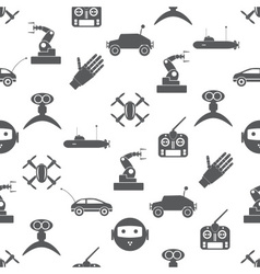 Hi-tech modern technology toys simple icons vector