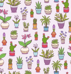 Home plants seamless pattern vector