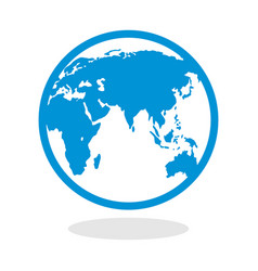 icon of a globe for website or mobile application vector image vector image
