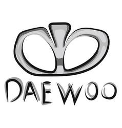 Image daewoo - logo or color vector