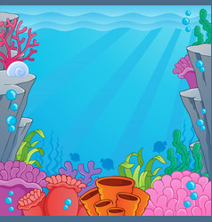 Image with undersea topic 4 vector