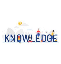 Knowledge word cartoon flat vector