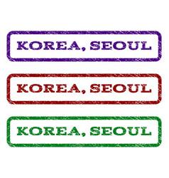 Korea seoul watermark stamp vector