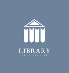 library logo vector image