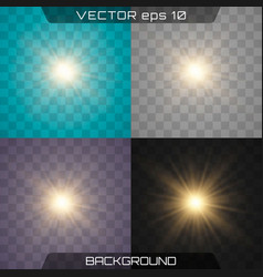 light spark and stars vector image