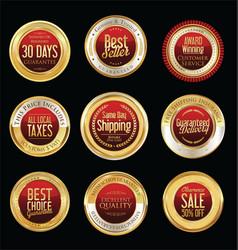 Luxury golden retro badges collection 02 vector