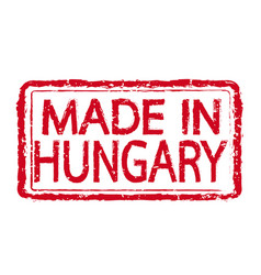made in hungary stamp text vector image