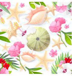 Marine seamless pattern art vector