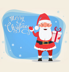 merry christmas and a happy new year greeting vector image