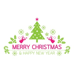 Merry Christmas with Icons Decorate vector