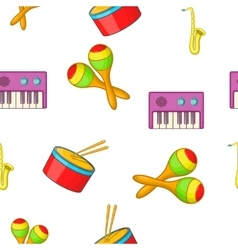 Musical device pattern cartoon style vector
