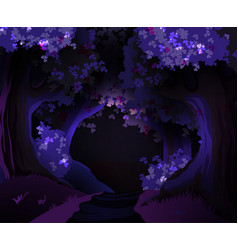 Mystical dark forest vector