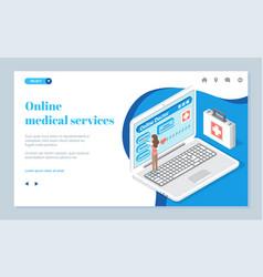 online medical services medical website online vector image
