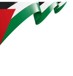 Palestine flag on a white vector
